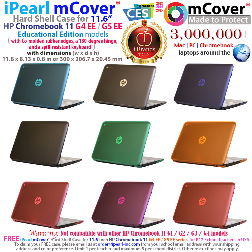 mCover Hard Shell case for HP  				Chromebook 11 G4 EE 11.6""