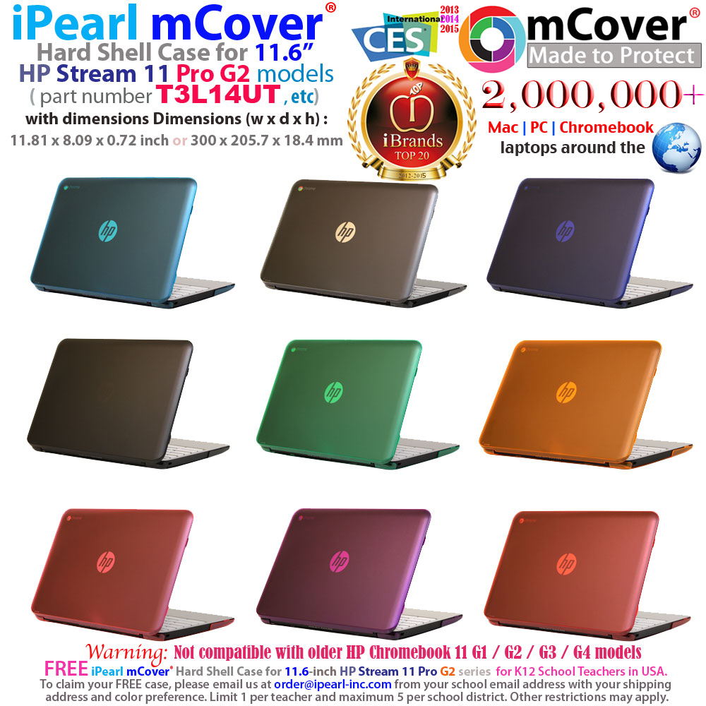 "mCover Hard Shell case for HP  				Stream 11 Pro G2 11.6"" Windows  				Laptop"