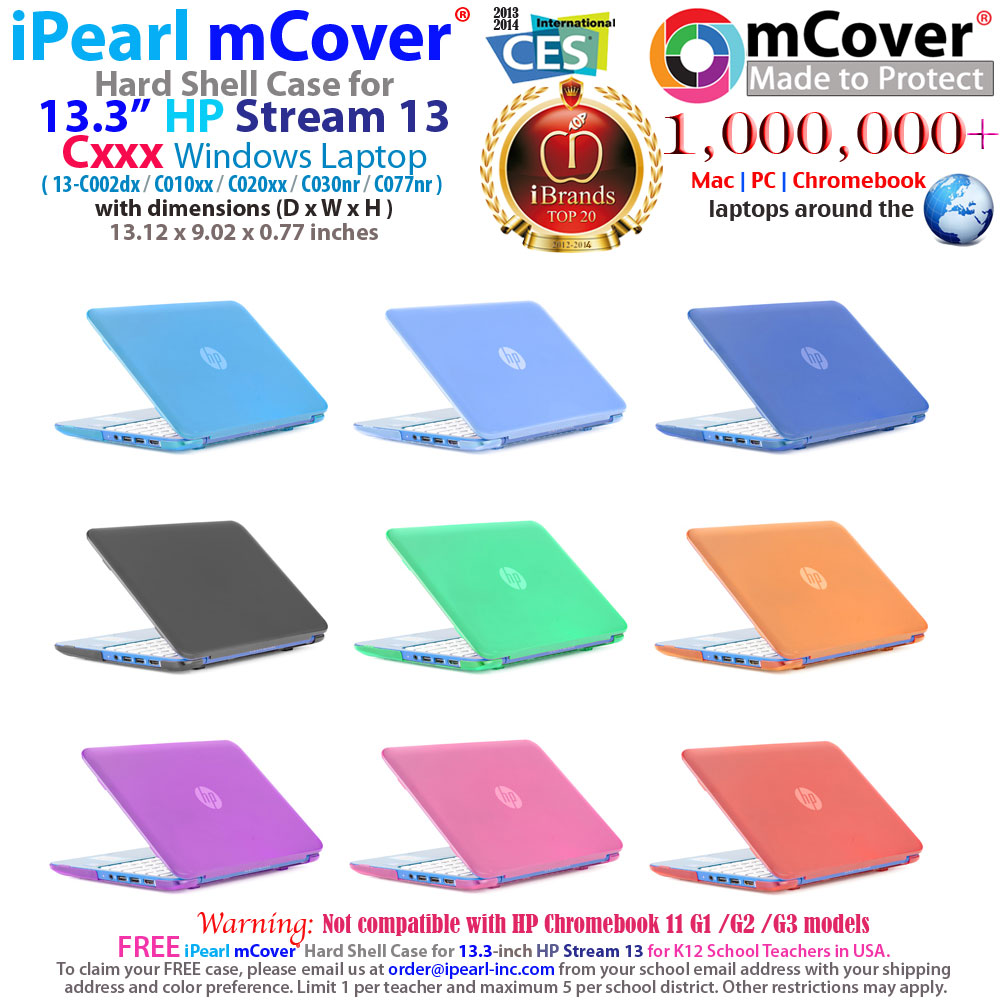 "mCover Hard Shell case for HP Stream  				13 13.3"" Windows Laptop"
