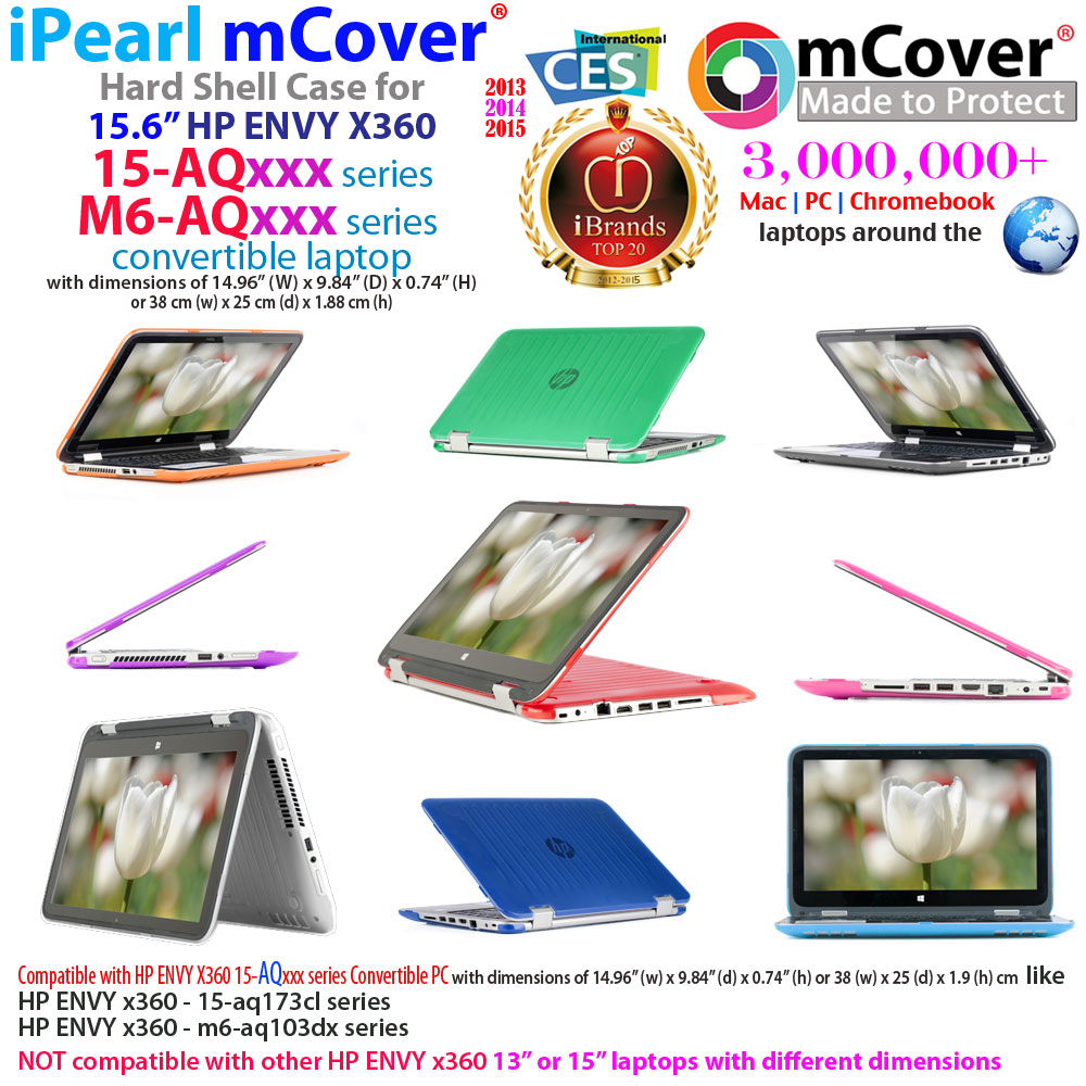 "mCover Hard Shell case for 15.6"" HP ENVY X360 15-AQxxx series"
