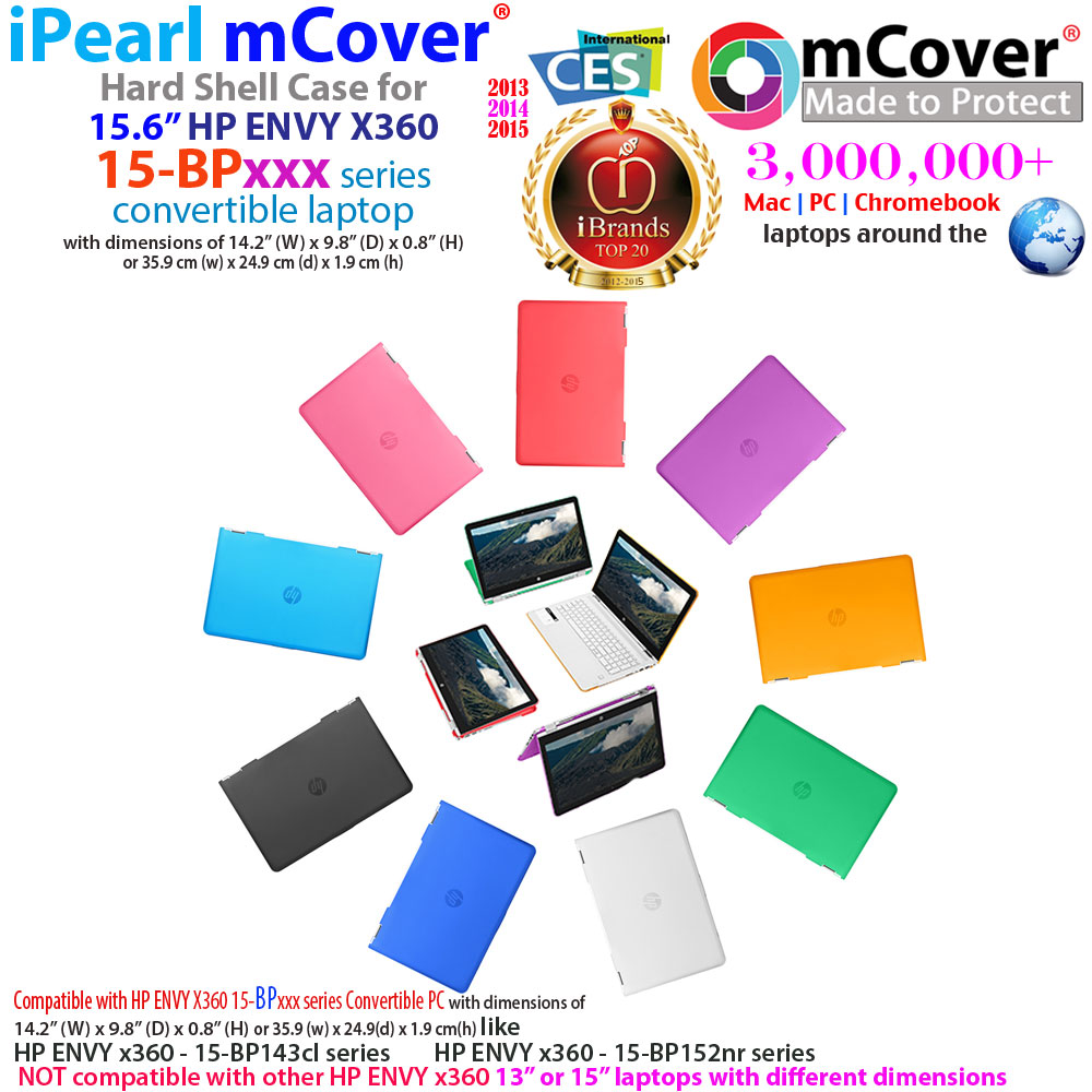 """mCover Hard Shell case for 15.6"""" HP ENVY X360 15-BPxxx series"""