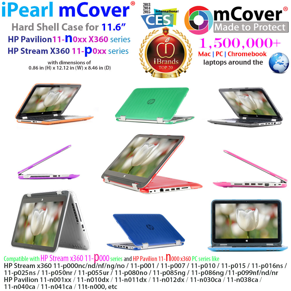 mCover  				Hard Shell case for HP Stream X360 11-p000  				series
