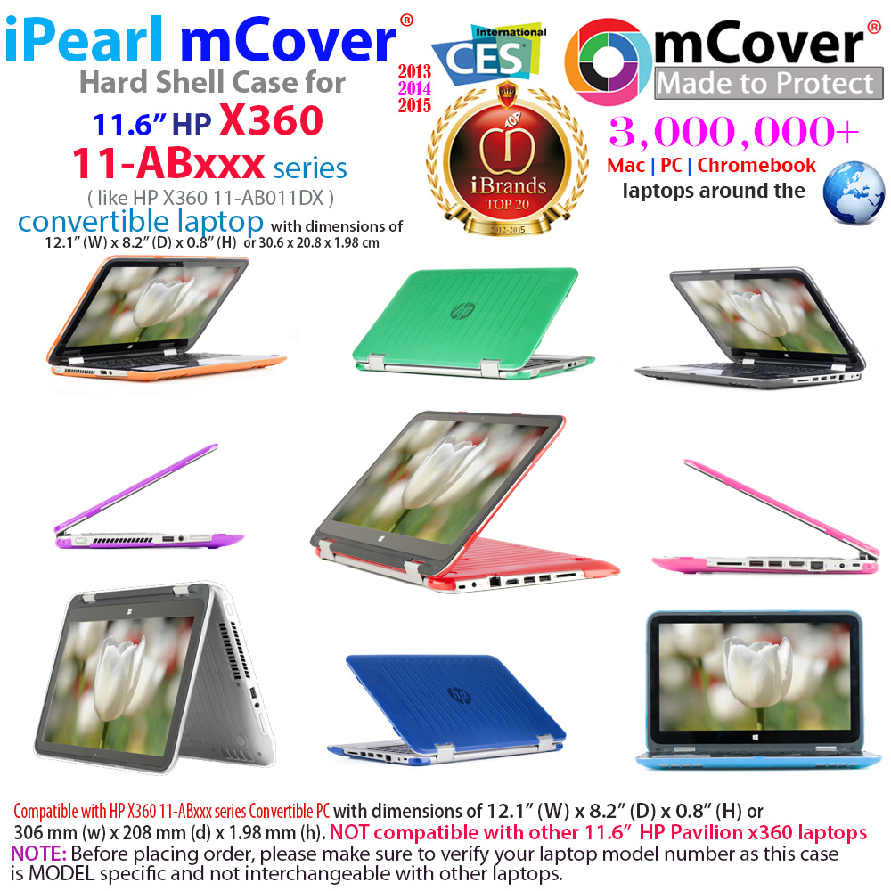 mCover Hard Shell case for HP X360 11-ABxxx series