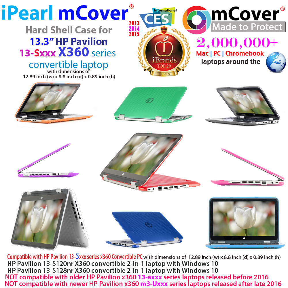 mCover Hard Shell case for HP  				Pavilion X360 13-Sxxx series