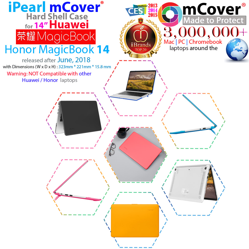 mCover Hard Shell case for Huawei Honor MagicBook 14-inch