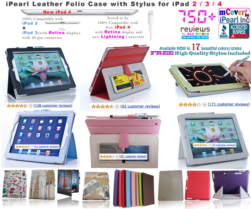 iPearl leather case for Apple iPad 2  				/ 3 / 4