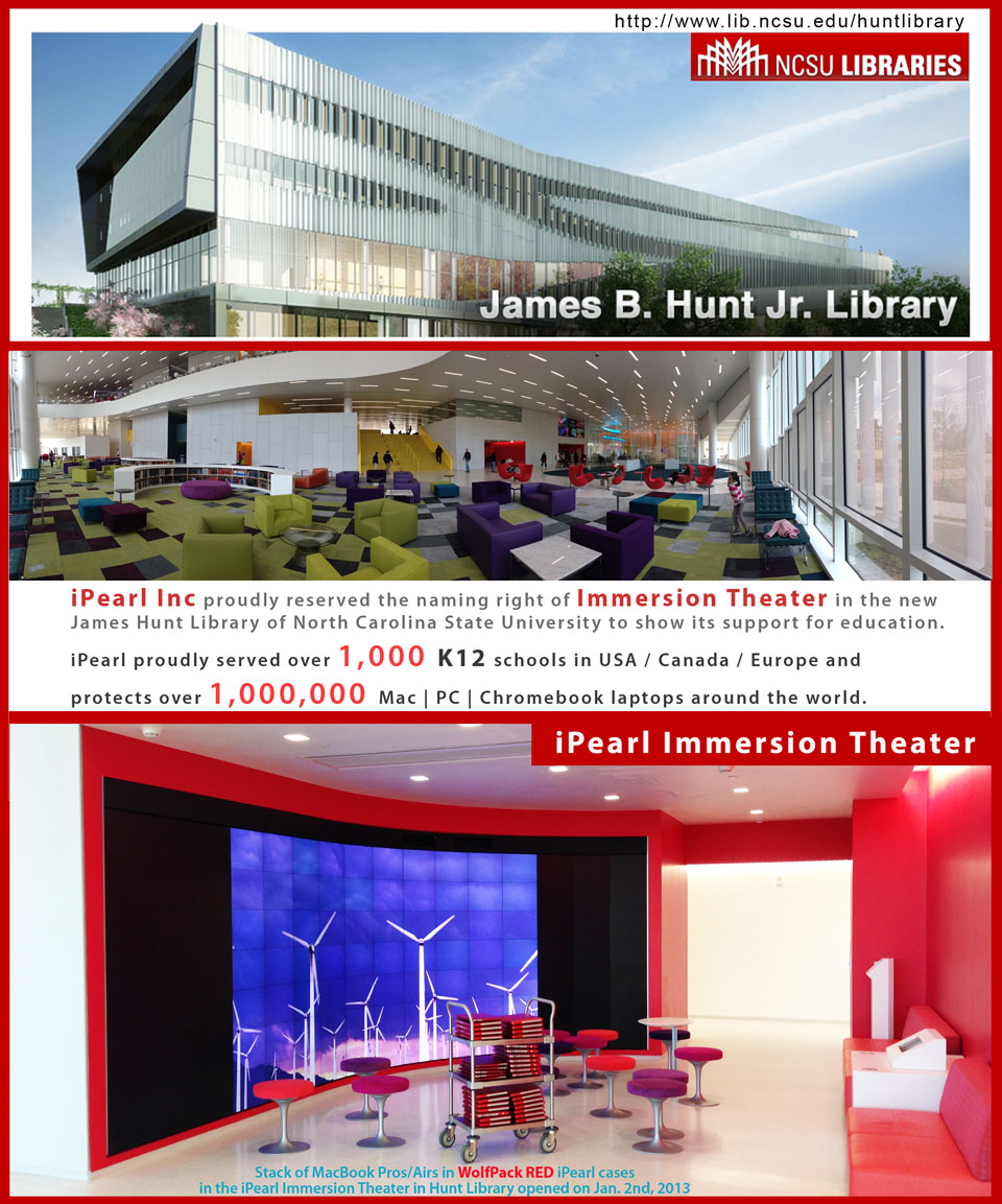 iPearl Immersion             Theater in NCSU Hunt Library