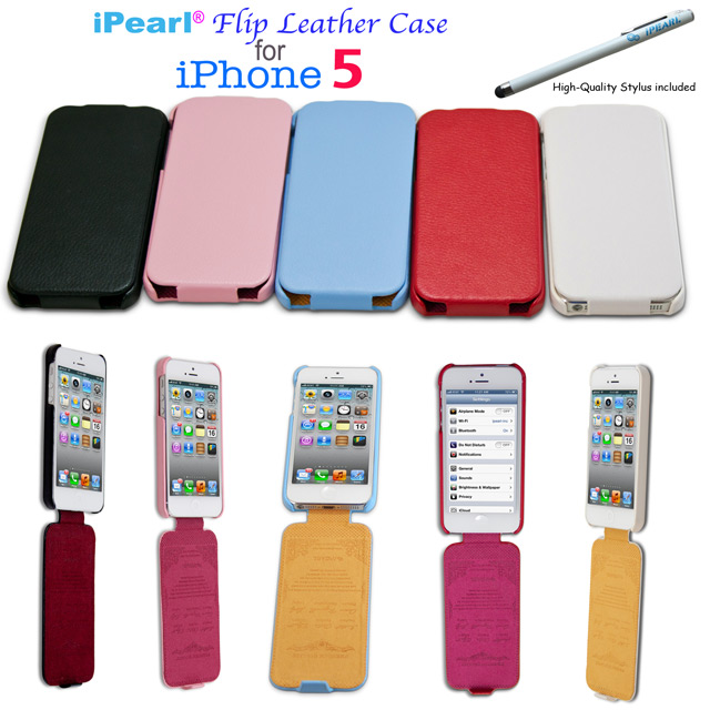 iPearl Leather Cases for  			iPhone5