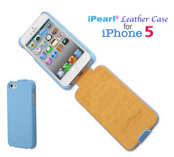 iPearl®Flip Leather case for  				iPhone 5