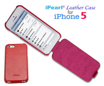 iPearl® Flip Leather case for  					iPhone 5