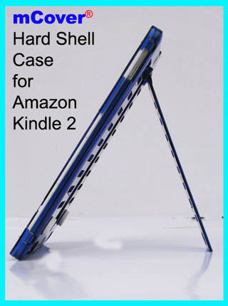 Blue hard case  					for Amazon Kindle 2 6-inch reader