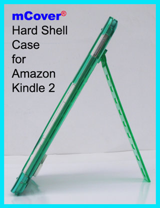 Green hard  					case for Amazon Kindle 2 6-inch  					reader