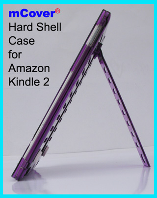 Purple hard  					case for Amazon Kindle 2 6-inch  					reader