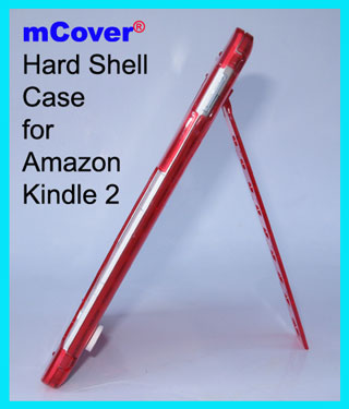 RED hard case  					for Amazon Kindle 2 6-inch reader