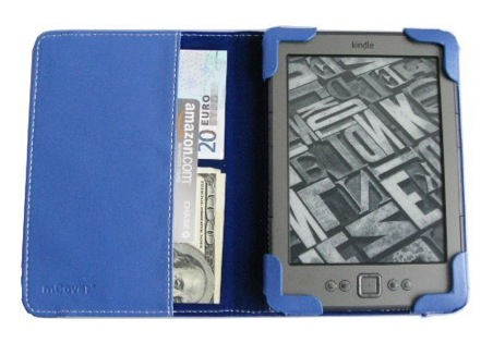 iPearl mCover leather case for                                 Kindle 4 eBook reader