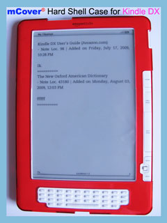 RED hard case for Amazon                       Kindle DX 9.7-inch reader