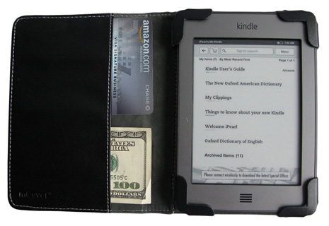 iPearl mCover leather case for                                 Kindle Touch eBook reader