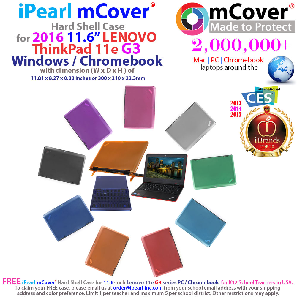 mCover Hard  				Shell case for Lenovo Thinkpad 11e G3  				series PC/Chromebook laptop