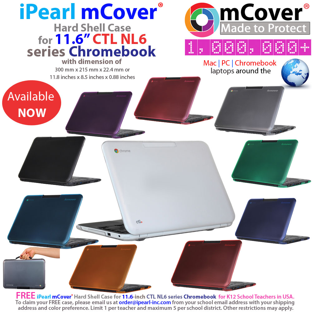 mCover Hard Shell case for Ctl NL6  				series Chromebook laptop