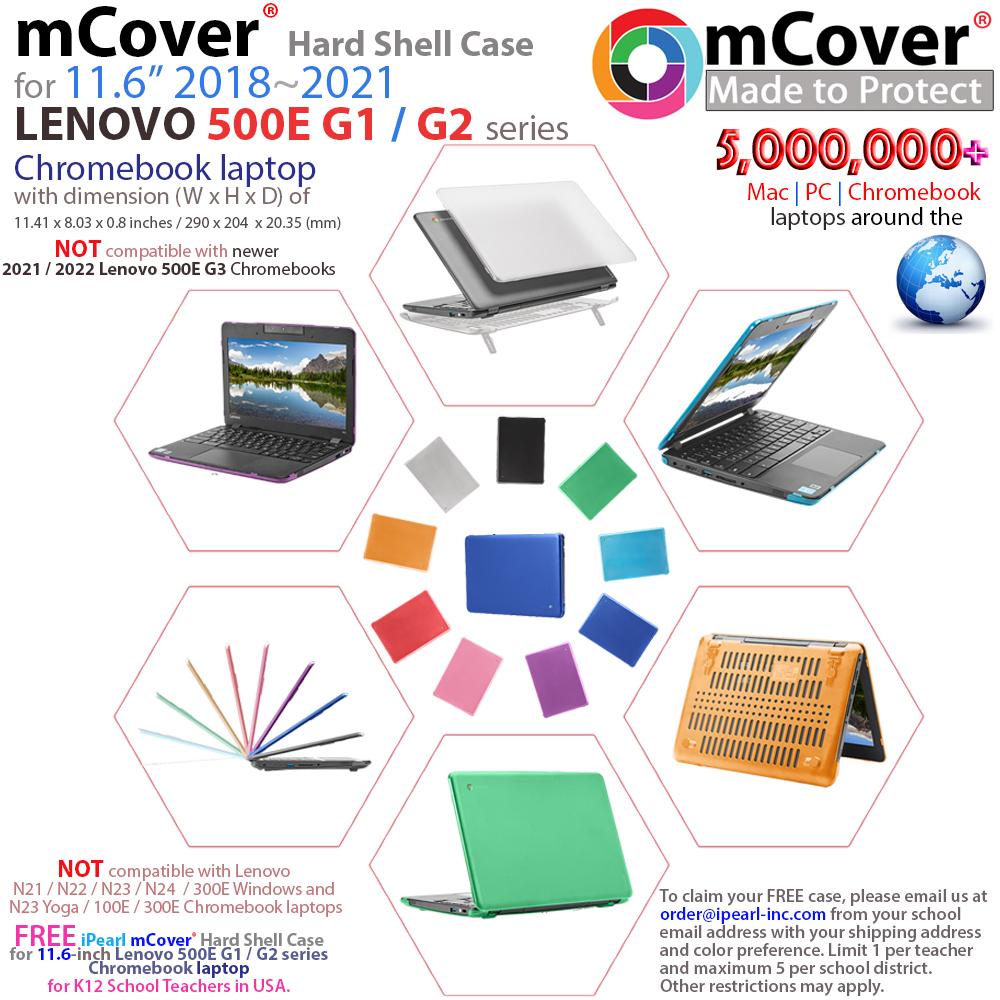mCover Hard Shell case for Lenovo 500E series Chromebook laptop