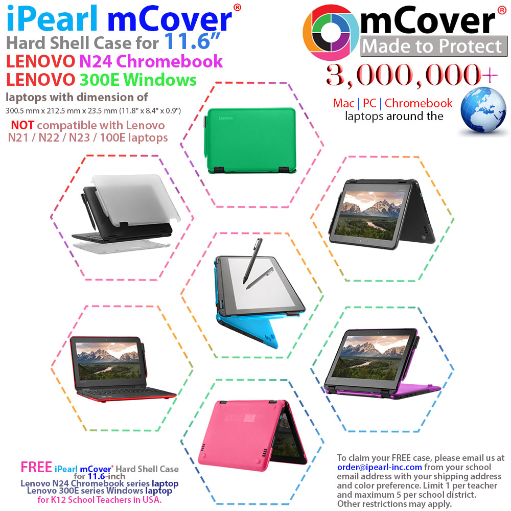 mCover Hard Shell case for Lenovo N24 series  laptop