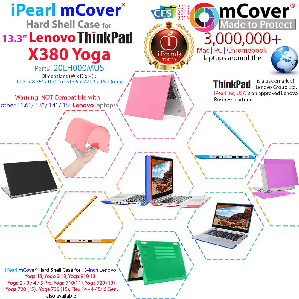 mCover Hard Shell case for 13.3-inch Lenovo ThinkPad X380 Yoga
