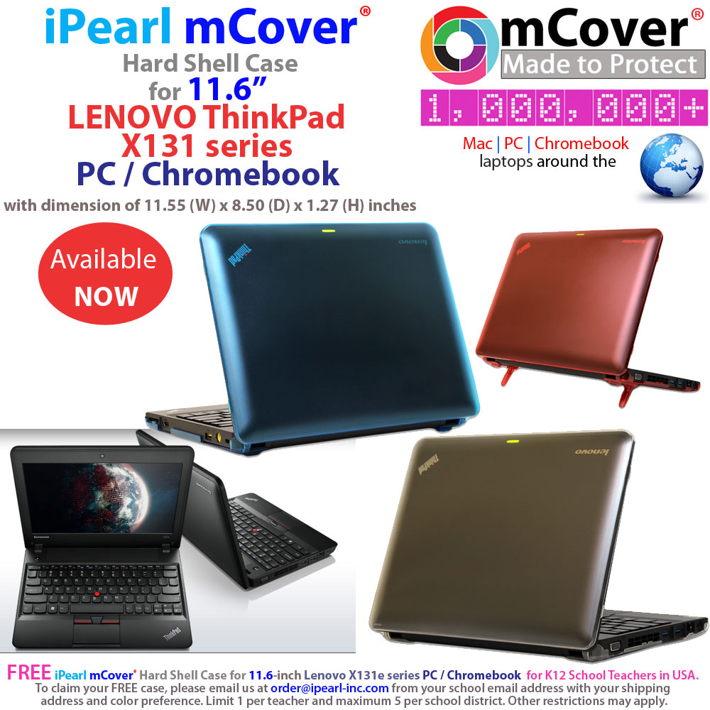 mCover Hard Shell case for  				Lenovo Thinkpad X131 series PC/Chromebook  				laptop