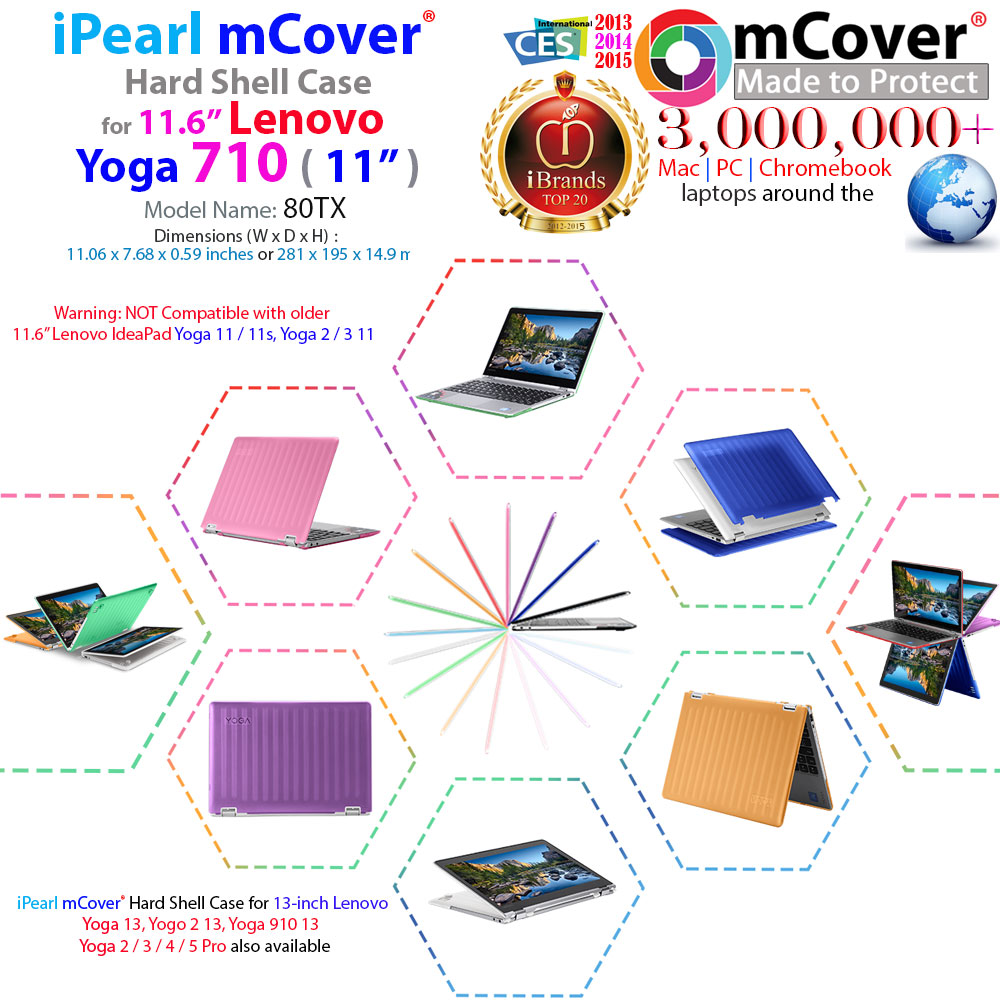 mCover Hard Shell case for Lenovo Yoga 710 11.6-inch