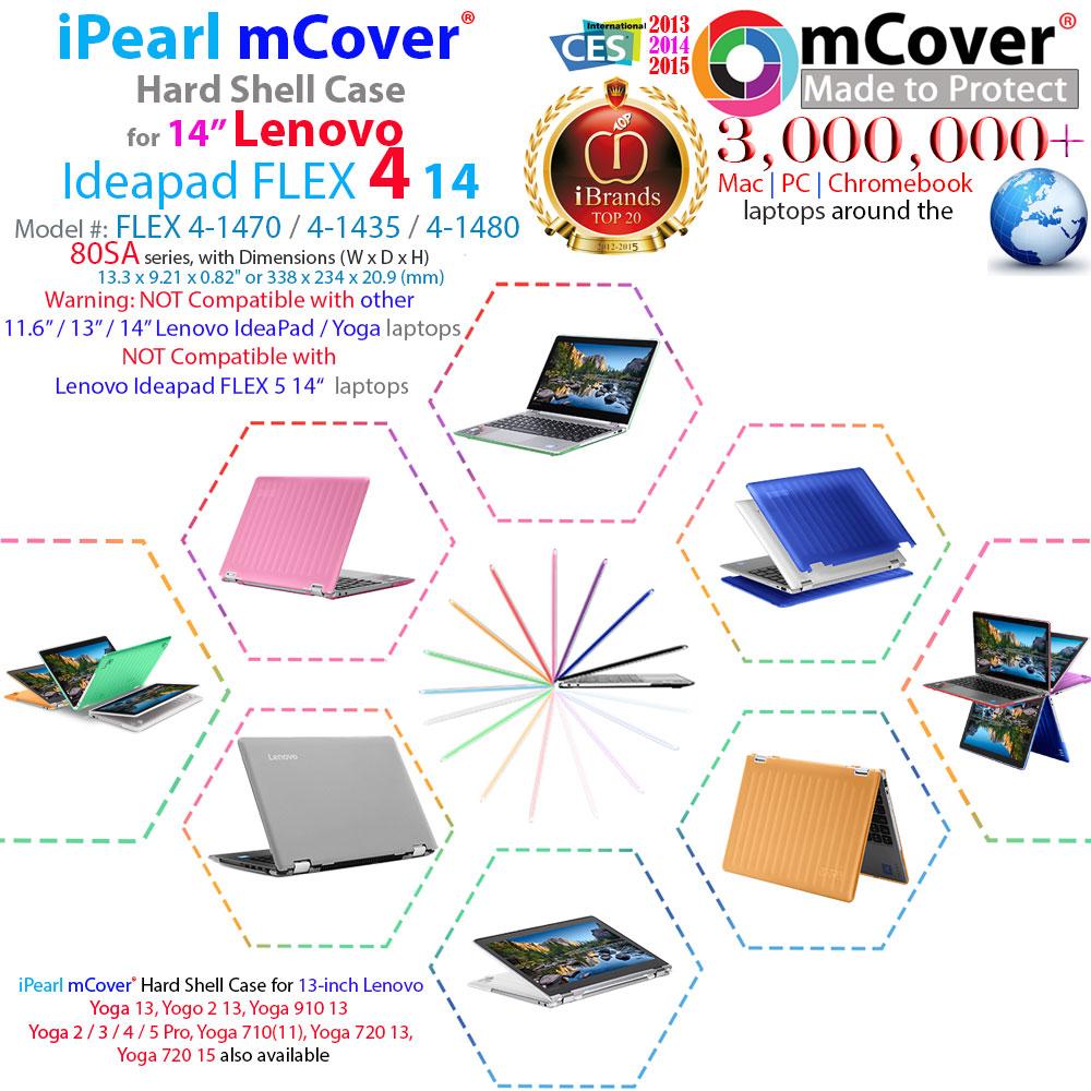 mCover Hard Shell case for 14-inch Lenovo Ideapad Flex 4 14
