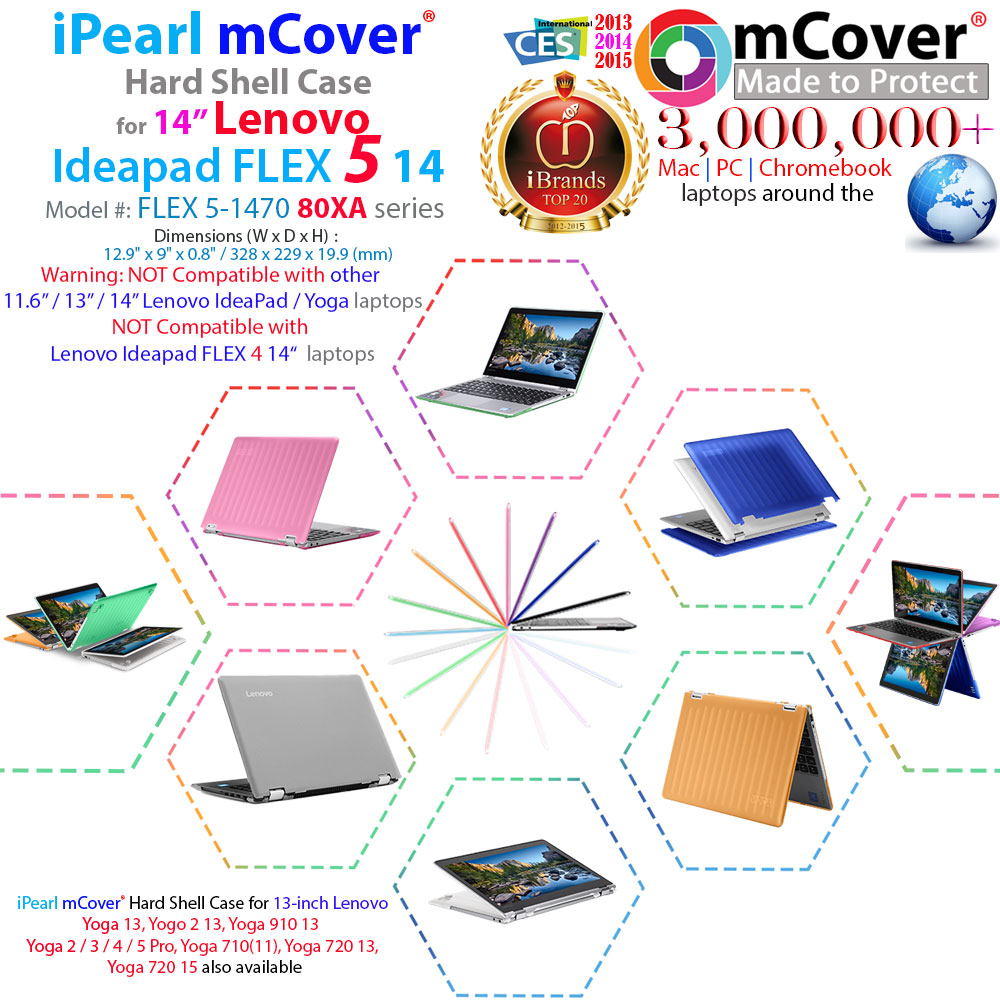 mCover Hard Shell case for 14-inch Lenovo Ideapad Flex 5 14