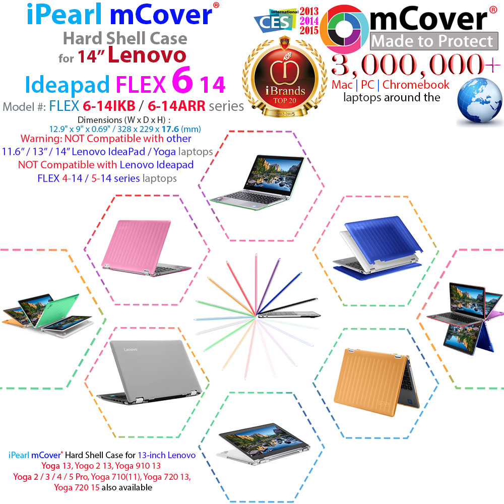 mCover Hard Shell case for 14-inch Lenovo Ideapad Flex 6 14
