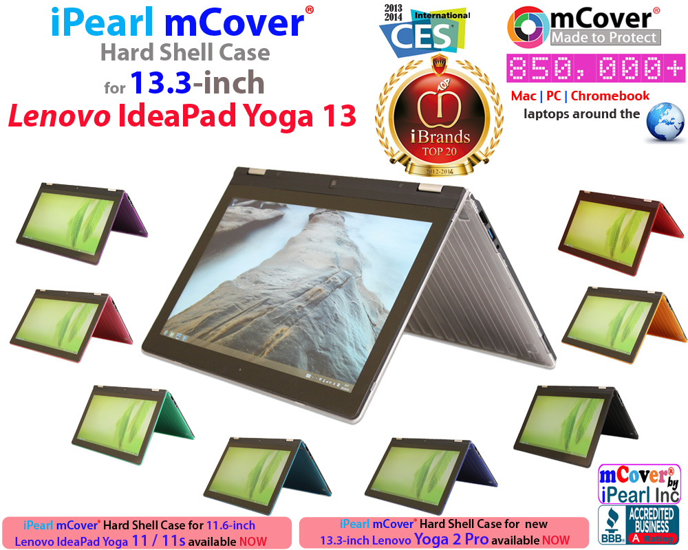 iPearl mCover® Hard shell case for 13-inch Lenovo Yoga 2 ...