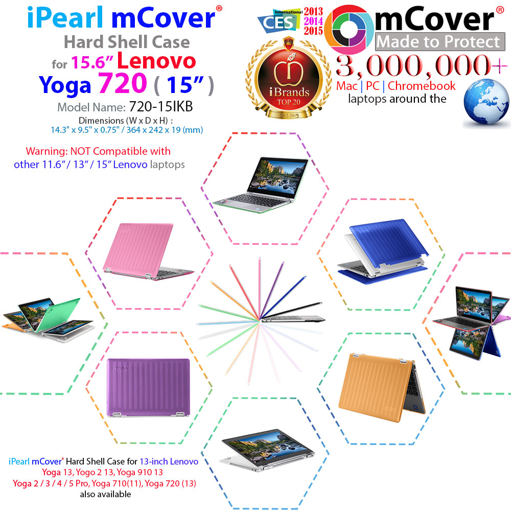 mCover Hard Shell case for Lenovo Yoga 720 15.6-inch
