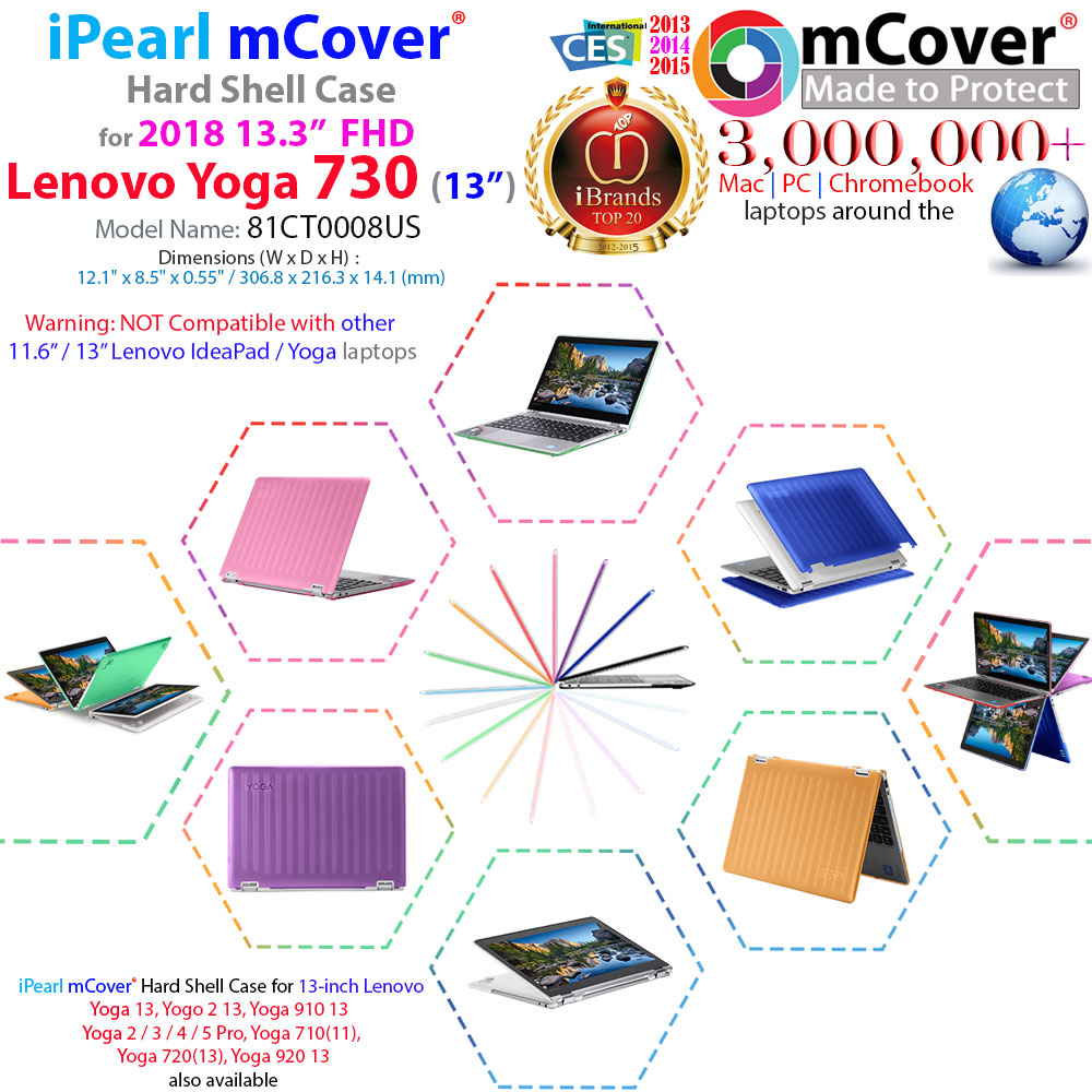 mCover Hard Shell case for Lenovo Yoga 730 13.3-inch