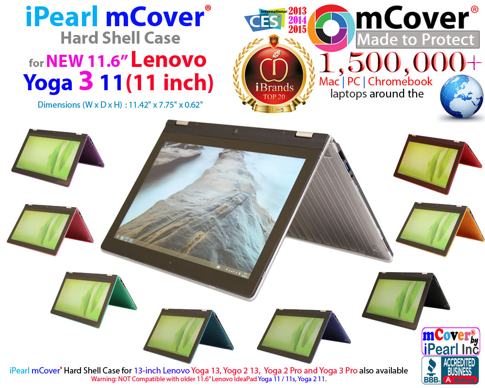 mCover Hard Shell case  							for Lenovo IdeaPad Yoga 3  							11