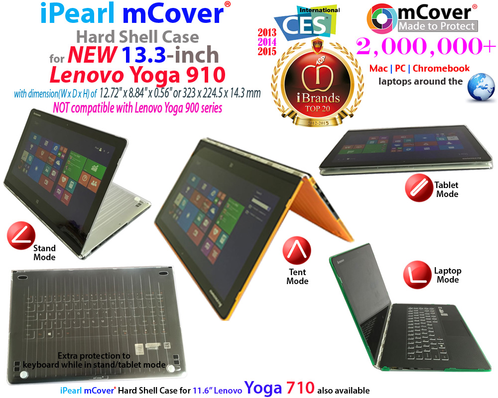 mCover Hard Shell case for Lenovo Yoga 910