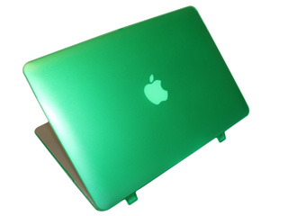 Green hard shell case for MacBook  					Air A1369 13.3""