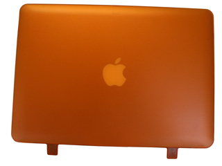 Orange hard shell case for                                   MacBook Air A1369 13.3""