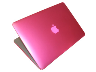 Pink hard shell case for MacBook  					Air A1369 13.3""