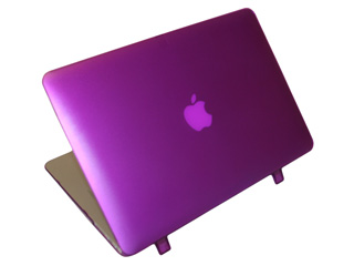 Purple hard shell case for  					MacBook Air A1369 13.3""