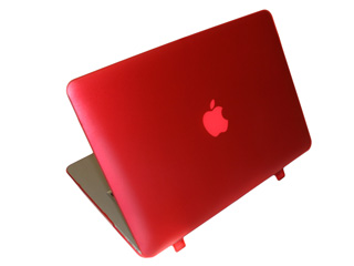 Red hard shell case for MacBook  					Air A1369 13.3""