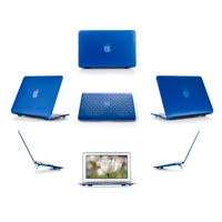 Blue hard brick design shell case  					for MacBook Pro Air 11.6""