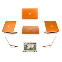 Orange hard brick design shell  					case for MacBook Pro Air 11.6""