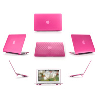 Pink hard brick design shell case                                   for MacBook Pro Air 11.6""