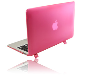 Pink hard shell case for MacBook  					Pro Air 11.6""