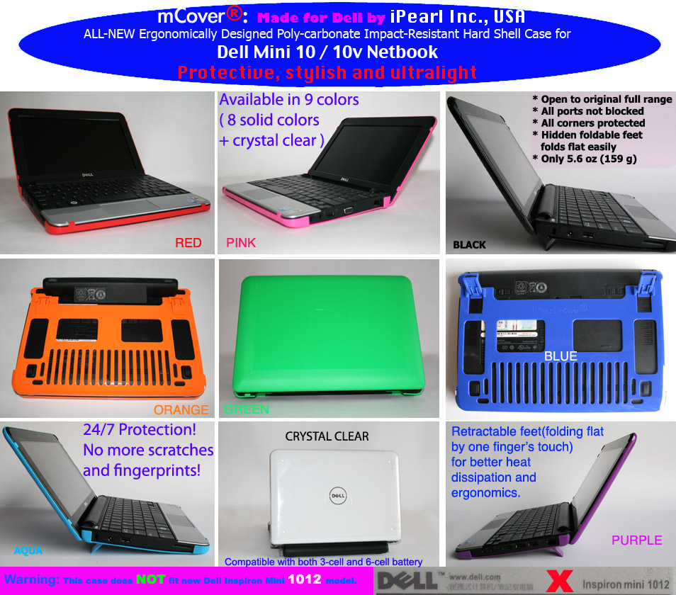 "Dell  				Mini 10 10.1"" Hard Shell Case"