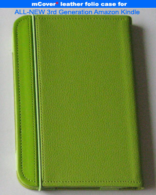 Green leather case for Amazon Kindle 3 ( WIFI & 3G ) 6-inch reader