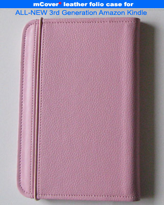 Pink leather case for Amazon Kindle 3 ( WIFI & 3G ) 6-inch reader