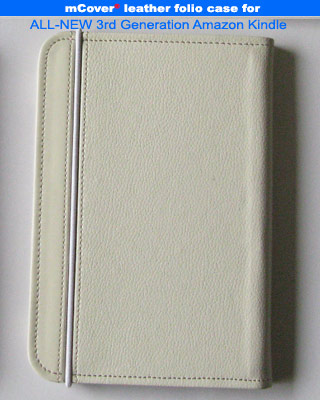 White leather case for Amazon Kindle 3 ( WIFI & 3G ) 6-inch reader