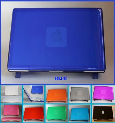 BLUE hard shell case for MacBook